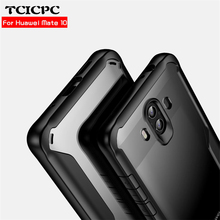 Huawei Mate 10 case TCICPC armor case for Huawei Mate 10 pro Mate10 silicone frame + Acrylic transparent back cover shookproof
