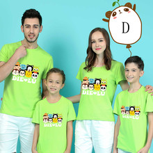 Parent-child T-shirts Lovely Chicken Shirt Lovers Family T-shirt Women Summer from Casual Tops Kid Parentage clothes DD10047