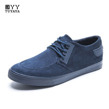 2019 New Casual Shoes for Men Flock Shoes Breathable Wear-resistant Shoes Comfortable Round Toe Lace-up Sneakers Espadrilles Men недорого