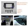 2 Din Radio Kit panel Fascia for TOYOTA Prius (ZVW30/35) 2009+ (Left Wheel)  Car Stereo Dash Trim Installation Kit Frame