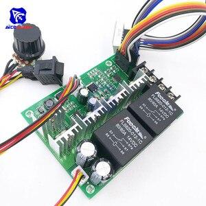 Image 5 - Diymore dc 10  50v 40A pwm dcモータ速度コントローラフォワード調整可能なポテンショメータスイッチledデジタルディスプレイ