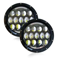 Promotion 2pcs Black Round 7 Inch 78W LED Headlight Bulb With Angel Eye DRL Light For