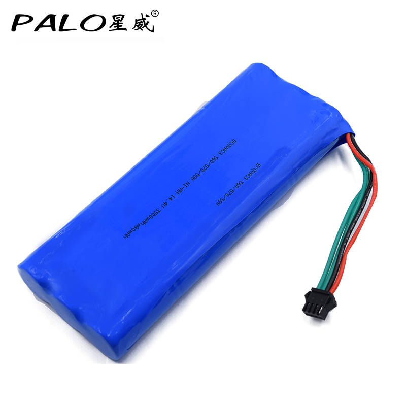 14.4V 3500mAh NI-MH Cleaner Battery For ECOVACS Deebot 540/550/560/570/580/D58/D56/D54 free shipping 3500mah 14 4v cleaner battery for ecovacs deebot d54 deepoo d56 d58 with free side brush