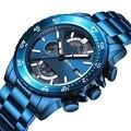 Мужские часы серии Sea Blue BIDEN Топ люксовый бренд Модные Спортивные кварцевые наручные часы Arym водонепроницаемые мужские часы Relogio Masculino