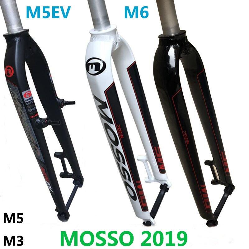 2019 Mosso Garfo M6 M5 M5E M5EV M3 MTB Bicicleta Garfo Apropriado para 26 27.5 29er Garfo Da Bicicleta Da Estrada v freio Dianteiro Garfos Cone Gloss/Matte