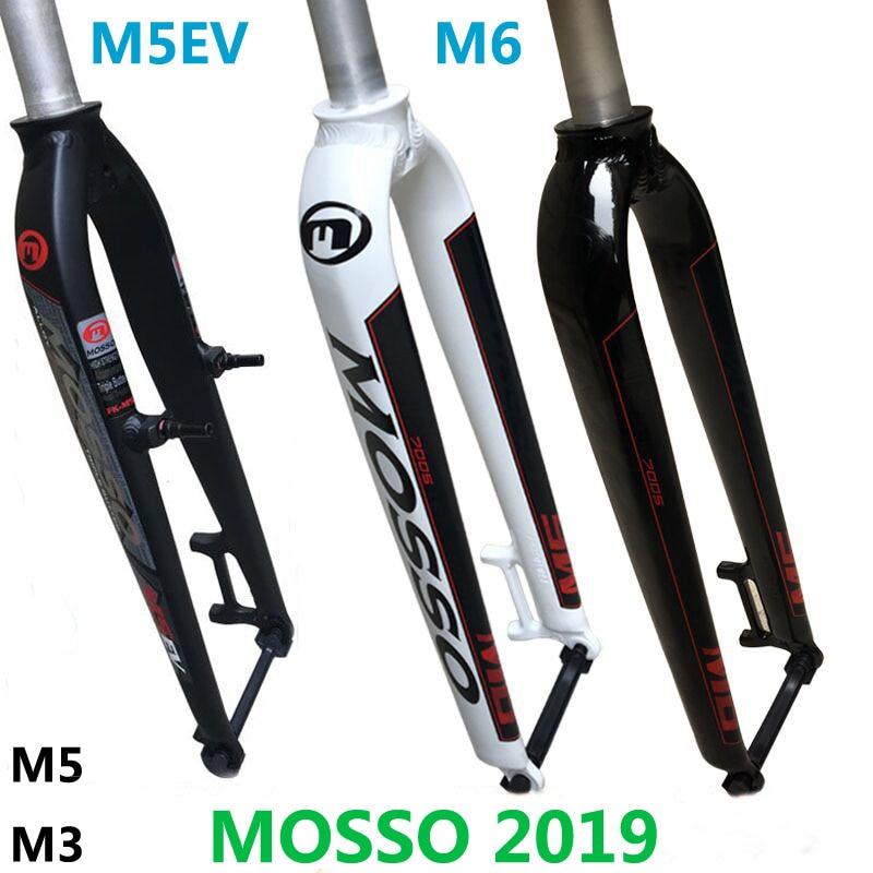 2019 Mosso fourche M6 M5 M5E M5EV M3 vtt vélo fourche adapté pour 26 27.5 29er route vélo fourche v frein avant fourches cône brillant/mat