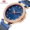 Женские кварцевые часы MINI FOCUS  водонепроницаемые  модные  повседневные