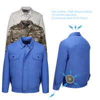 Safety Super Air Conditioning Wind Jacket Fan Suit Summer Heatstroke Cooling Fan Service Agriculture Busy Workwear Site PSE batt