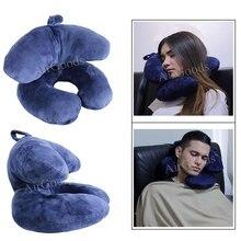 Полиэфирная подушка, новейший дизайн, дорожная подушка для самолета, автомобиля, поезда, офиса, школы, U образная подушка и J образная подушка для шеи