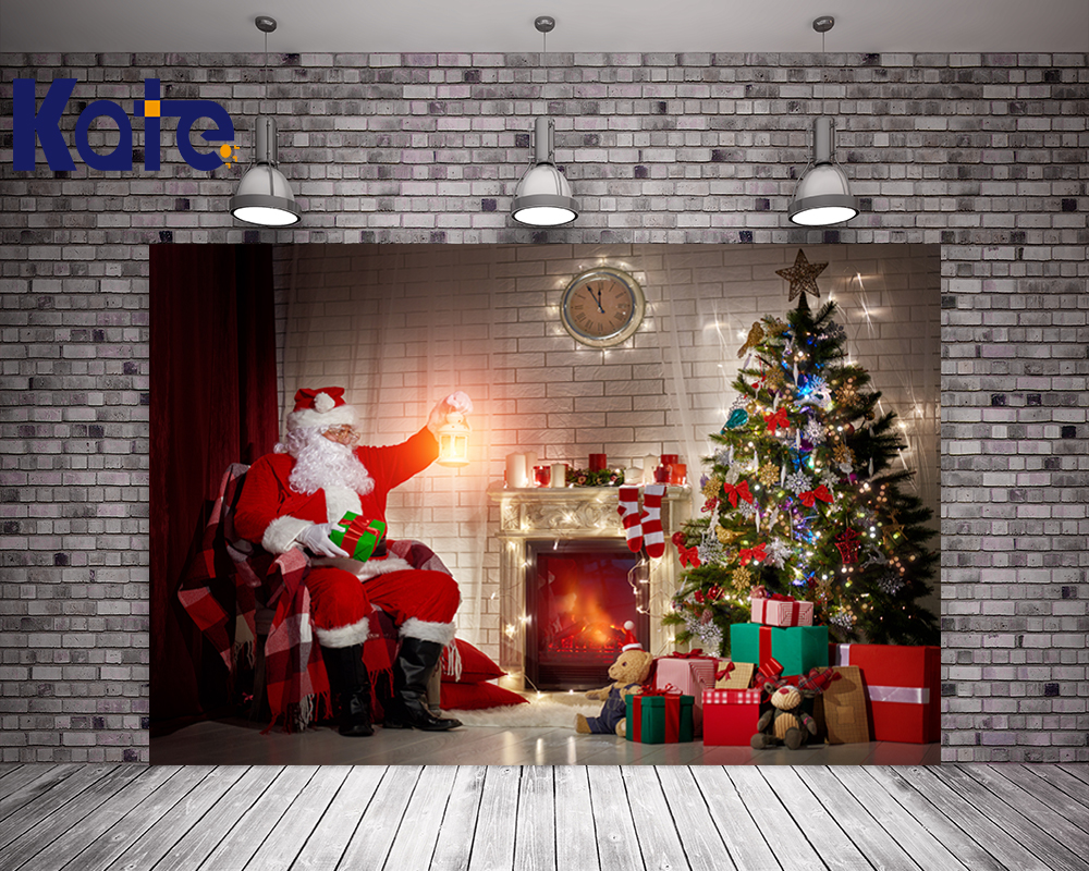 Indoor Fireplace Christmas Tree Photography Background: Aliexpress.com : Buy Kate Digital Backdrop Christmas Tree