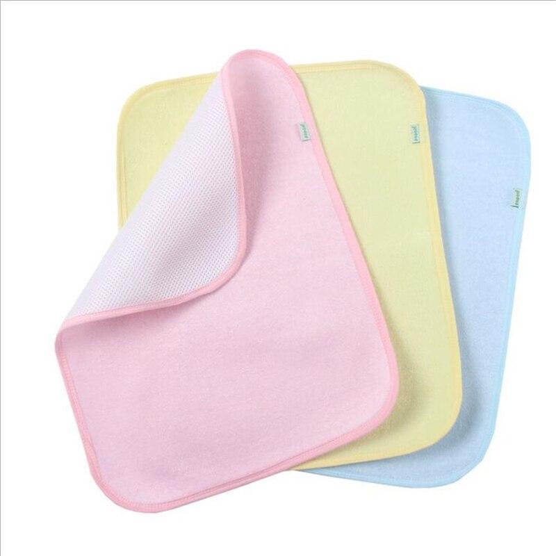 एस आकार 35 * 45 सेमी 3 रंग बेबी वॉटरप्रूफ शीट रक्षक गद्दे बांस फाइबर बदलते पैड बिस्तर गीला टॉपर शीट्स डायपर