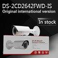 Em estoque frete grátis versão em inglês Câmera Da Bala DS-2CD2642FWD-IS, 4MP WDR Vari-focal-focal da Câmera do IP Da Rede