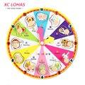 Мультяшные цифровые часы Знаки зодиака, деревянная головоломка - часы, детская игрушка, обучающая и развивающая игрушка для детей, подарок