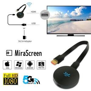 Image 1 - YEHUA G6 1080P HD TV Stick беспроводной WIFI Дисплей донгл приемник 2,4G/5G Медиа Видео стример HDMI Miracast Airplay TV Box