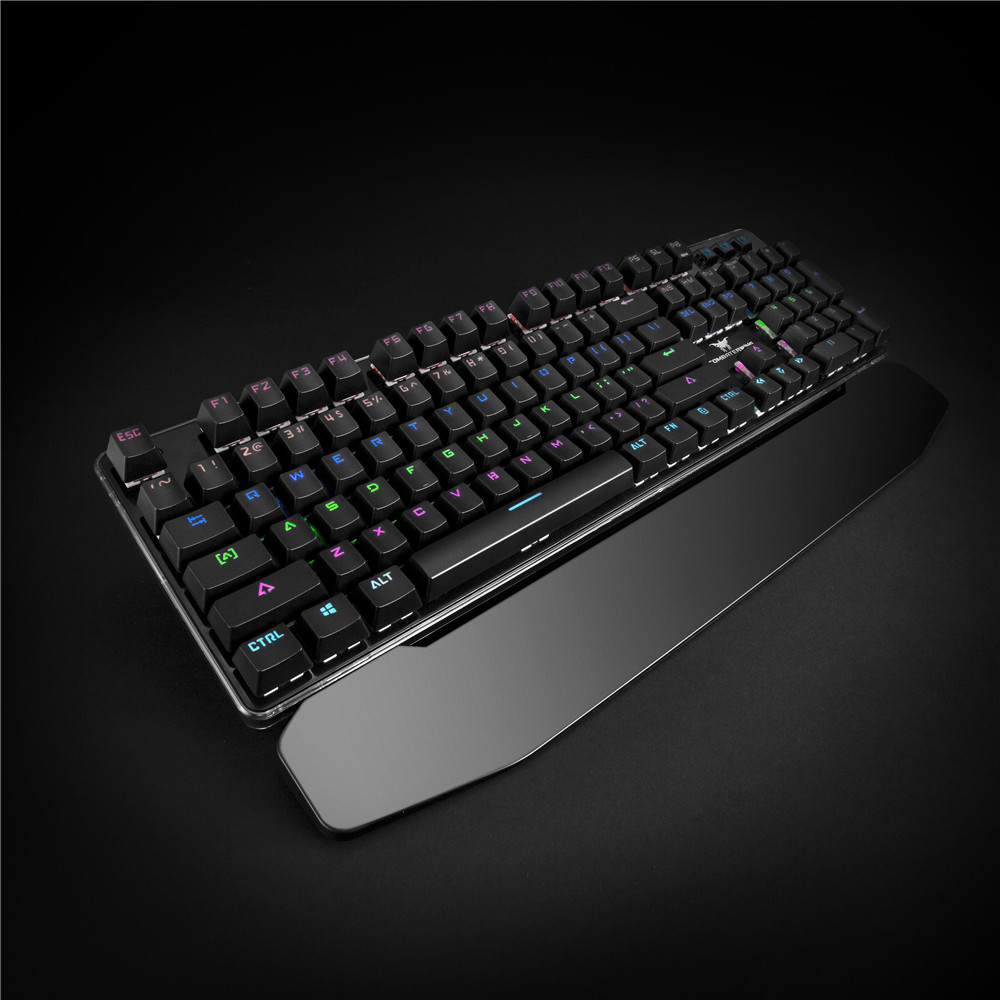 Combaterwing Gamer 104 Keys USB Professional Wired Multimedia Ergonomic illuminated Mechanical Gaming Keyboard For PC Computer 2017 wired 104 keys k26 mixed led backlit illuminated usb ergonomic multimedia mechanical gaming keyboard 3200dpi gaming mouse