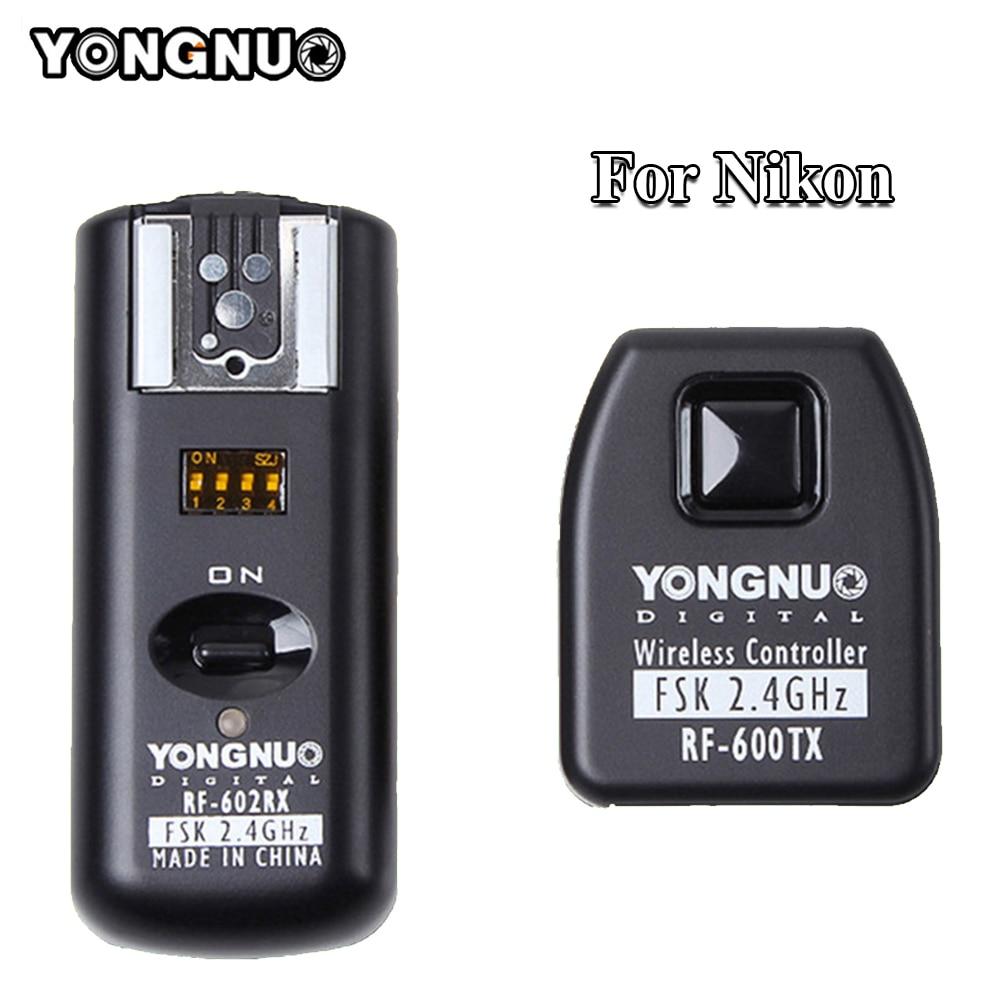 SB-25 SB-800 SB-28 Yongnuo RF-602 2.4GHz Wireless Flash Synchronized Trigger Remote Control for Nikon SB-900 SB-26 SB-27 SB-600 SB-24 Cameras