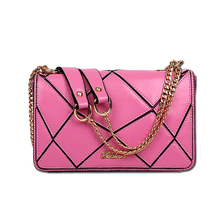 Plaid PU Leather Women Crossbody Bags Lady Flap Handbags Small Chains Designer Girl's Wine Red Black Small Bag Bao Bao BT0000100