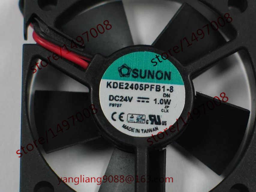 SUNON KDE2405PFB1-8 DC 24V 1,0 W 2-проводной 50X50X10mm Сервер вентилятор охлаждения