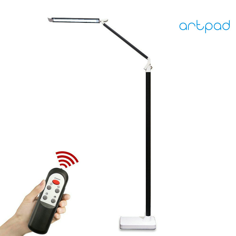 Artpad Remote Control Nordic Modern LED Floor Lamp 12W 25 Level Adjustment Touch Dimmer Piano Lamp