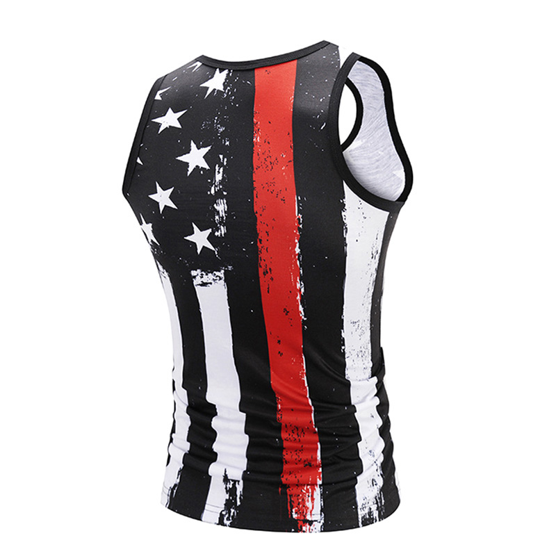 671978470507c 3D Print Male Tank Tops Men s Compression Sleeveless Shirt American Flags  Dark Patriotic Design Bodybuilding Vest-in Tank Tops from Men s Clothing on  ...
