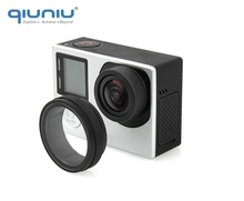 QIUNIU pour GoPro accessoires UV filtre lentille protecteur optique verre UV lentille housse de protection pour GoPro Hero 4 3 + 3 caméra