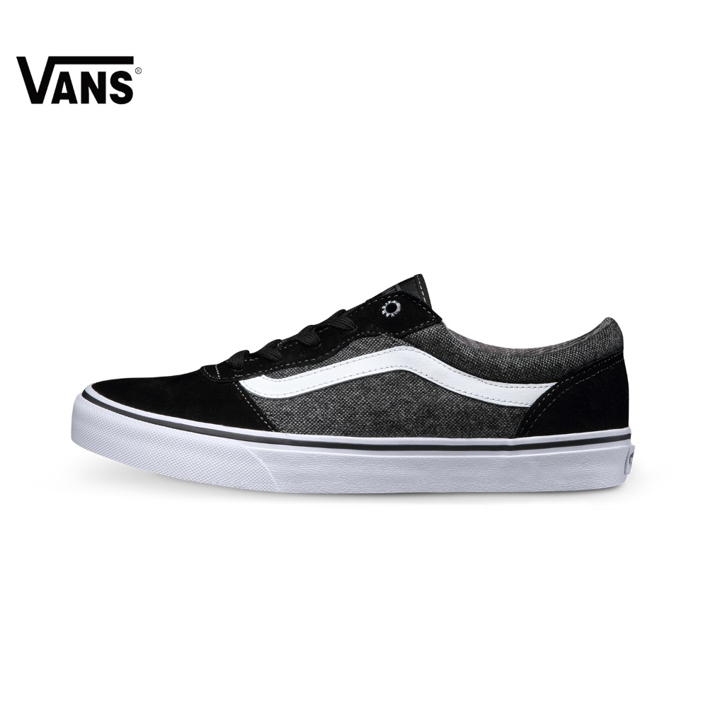 купить Black Vans Sneakers Low-top Trainers Vintage Men Sports Skateboarding Shoes Flat Breathable Classic Canvas Vans Shoes for Men по цене 4780.42 рублей