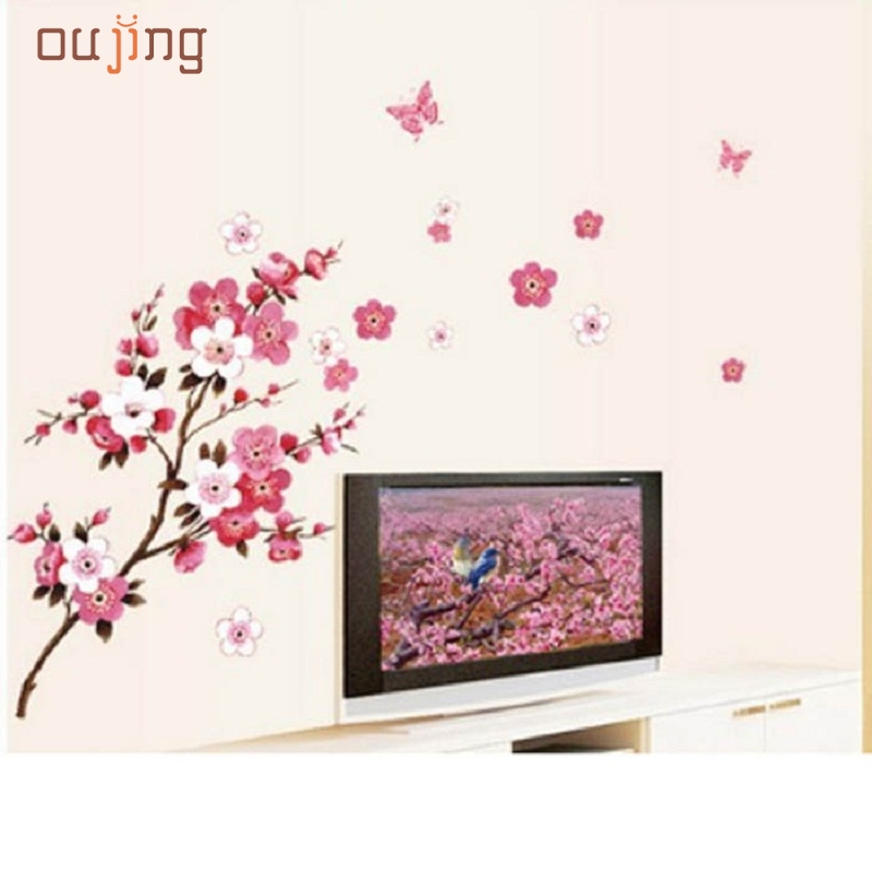 Mosunx Business   Wall Art Decor Removable Mural PVC Decal Home Sticker Plum Flower Blossom Tree