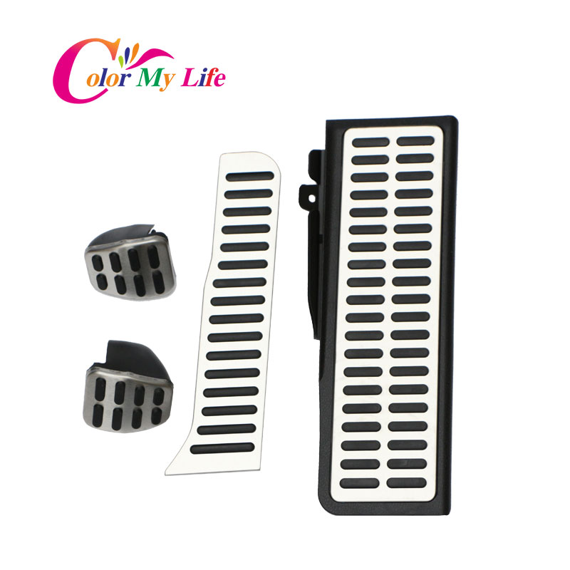 Car Gas Brake Rest Pedal Car Pedals For Volkswagen Vw Golf 5 6 MK5 MK6 Jetta