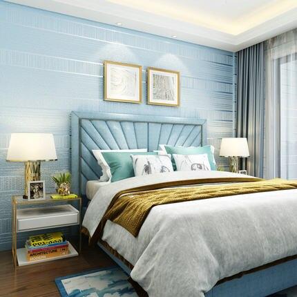 Купить с кэшбэком PAYSOTA High Quality Striped Wallpaper Deerskin Cashmere Modern Minimalist Bedroom Living Room Dining Room TV Background Wall P