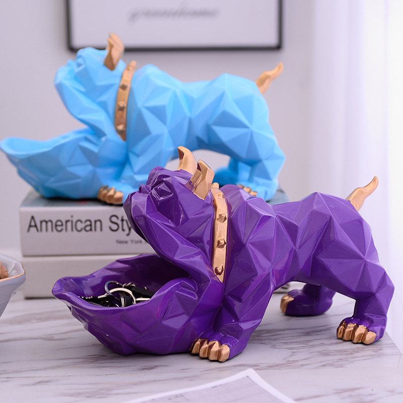 Creative Nordics Lucky Dog Geometric Animal Sculpture Ornament