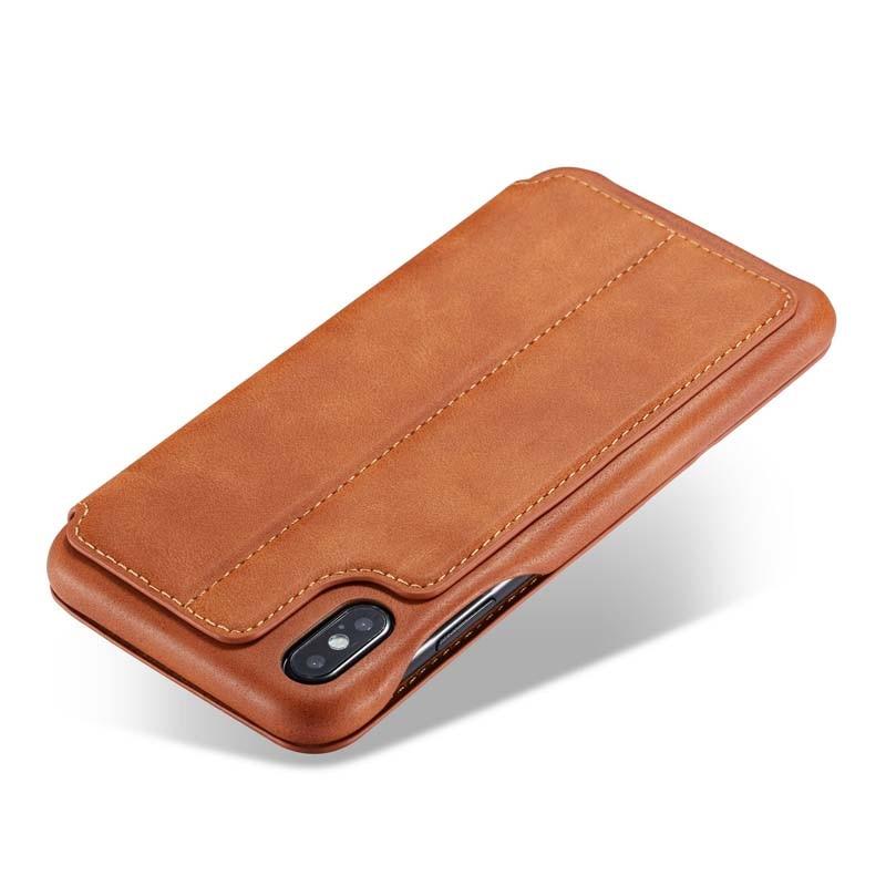 HTB1UXe X0fvK1RjSspoq6zfNpXaF Original Flip Wallet Leather Business Retro Book Design Magnetic For iphone XS Max XR XS X 6 6S 6Plus 7 8 7Plus 8Plus  JS0715