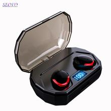 Seovo TWS power bank digital LED didsplay in Ear wireless bluetooth 5.0 Siri waterproof sport earphone Hifi airdots pro earbuds