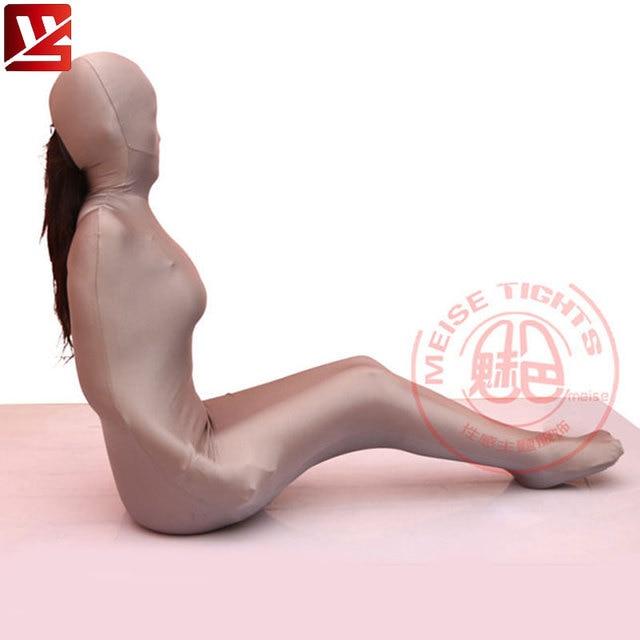 MEISE Cosplay Lycra Vrouwen Sexy Full Body Panty Panty Cocon Body Kousen Catsuit Bodysuit Erotische Lingerie Gay Plus Size