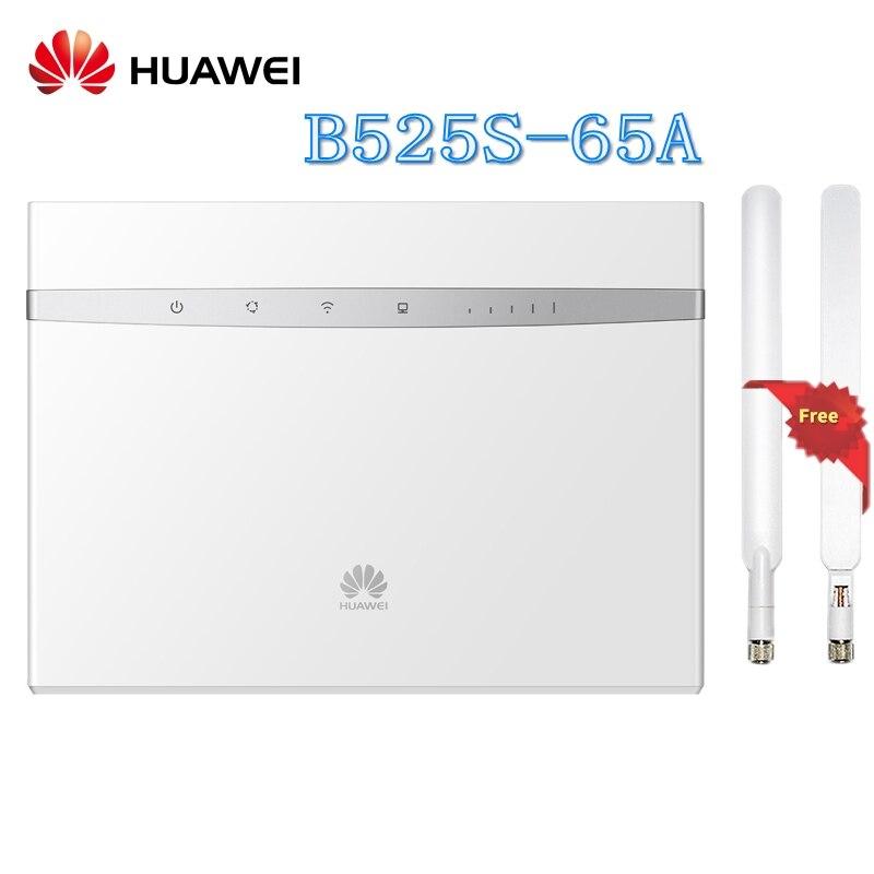 Débloqué Huawei B525 B525S-65a 4g LTE Cat6 CPE 300 Mbps Routeur Sans Fil Favoriser L'accès au Réseau Ethernet Gigabit Plus antenne