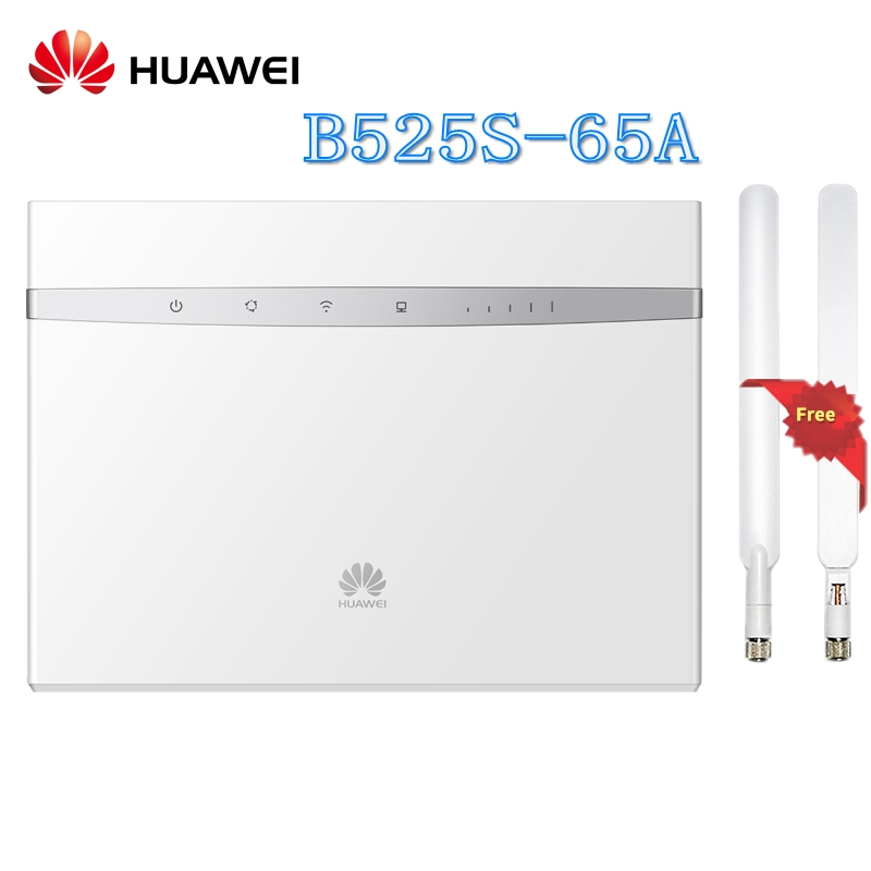 US $144 0 28% OFF|Unlocked Huawei B525 B525S 65a 4G LTE Cat6 CPE 300Mbps  Wireless Router Support Access to Gigabit Ethernet Network Plus Antenna-in