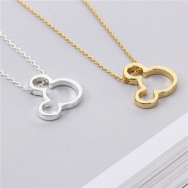 Cartoon Style Baby Mouse Necklace Stylish Simplicity Style Cute Dainty Mickey Pendant Beautiful Birthday Gift for Girl