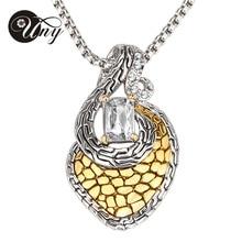 Lo nuevo de la marca HARDY joyería moda collar dorado gargantilla Crystal collares y colgantes NK061