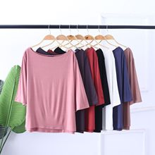 Breathable T Shirt Women New 100% Cotton t-shirts womens Soft vogue Vintage tshirts cotton women Slash Neck Half Sleeve Tops