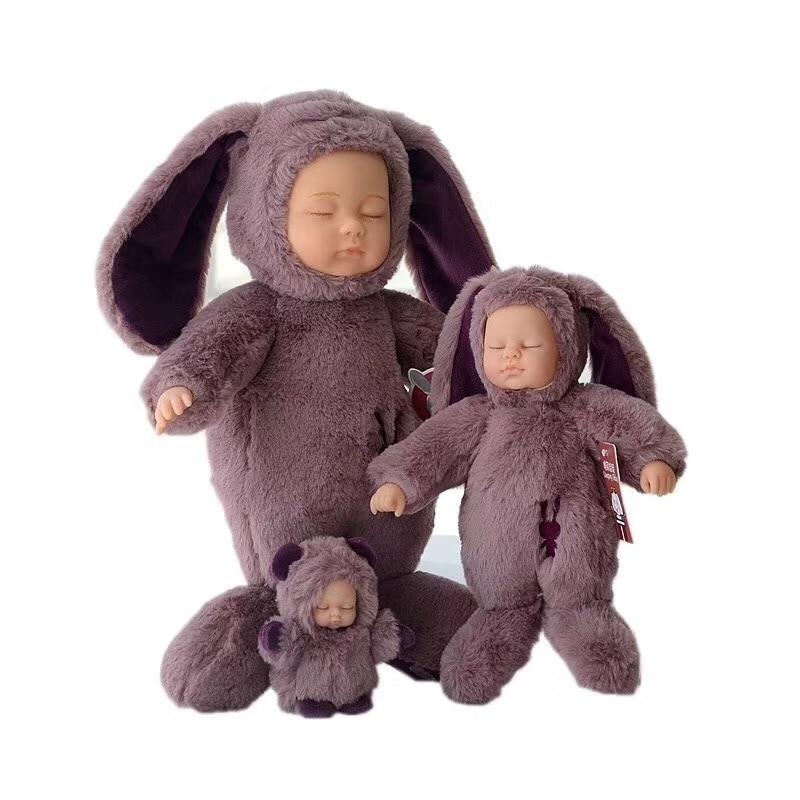 25cm/37cm Kawaii Bjd bebe Sleeping dolls stuffed plush toys for children's Christmas gift high quality reborn baby born toys kawaii baby dolls