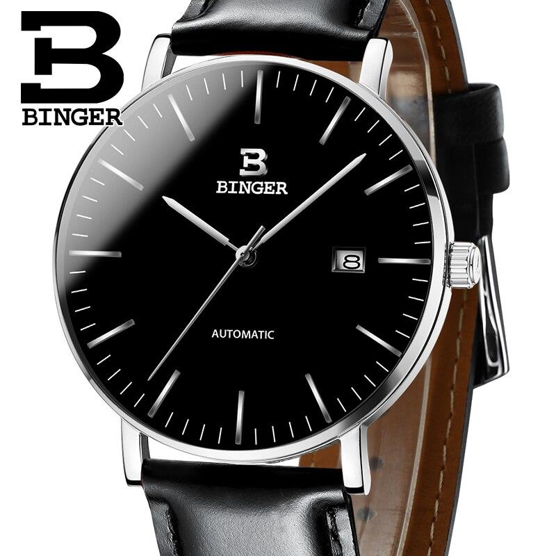 Suisse BINGER Montres Hommes Marque De Luxe automatique mécanique Hommes Montre Sapphire Homme Japon Mouvement reloj hombre B-5081M-17
