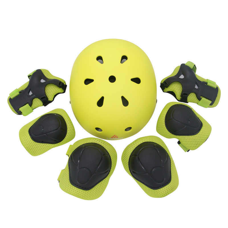 LANOVA 7Pcs/set Cycling Skating Skateboard Helmet Elbow Knee Pads Wrist Sport Children Bike Bicycle Roller Protect gear safety spakct cycling bike children elbow pads knee pads silicone gel elbow protect cover sport safety pulley bicycle knee pads support