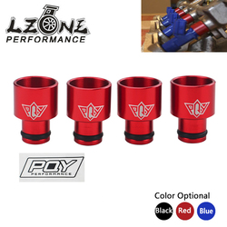 LZONE - 4pcs Racing PQY Fuel Injector Top Hats Adapters for RDX Injectors to B16 B18 D16Z D16Y WITH PQY STICKER JR-FIA01