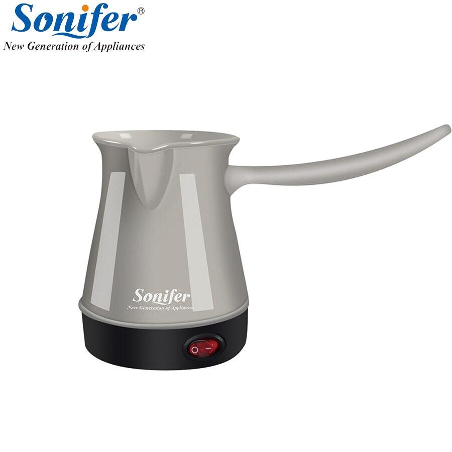 Colorido mini café pavo máquina portátil cafetera eléctrica cafetera alimentos CALDERA del café del grado para el regalo Sonifer