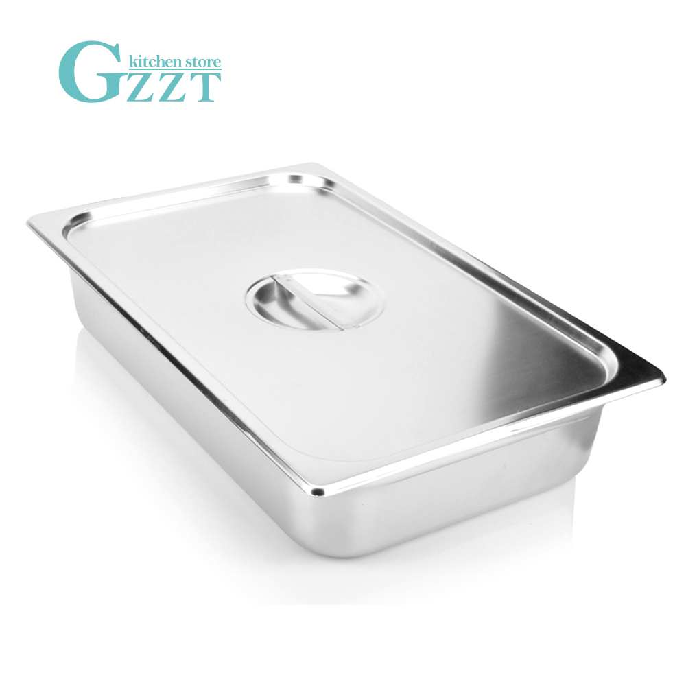 1 1 GN Pan Food Pans Stainless Steel With Pan Lid Carton American Style 0 6mm