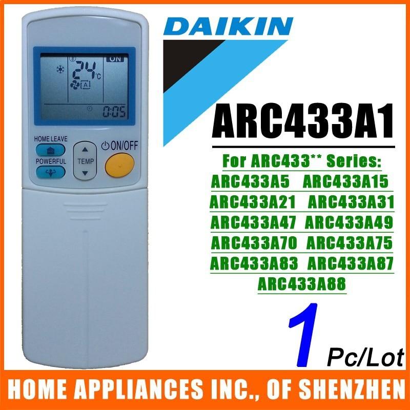 דיקין פיצול & נייד מיזוג אוויר שליטה מרחוק ARC433A1 תואם עבור ARC433A75 ARC433A83 ARC433** סדרה