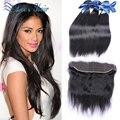 Cheap soft virgin hair lace frontal closure 13*4 Brazilian hair 8A Brazilian lace frontal closure with bundles straight hair