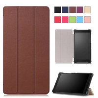 Folio Magnetic Stand PU Leather Cover Case For Lenovo Tab4 7 TB 7504F Tablet Case For