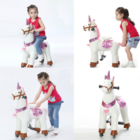 Action Pony Small Walking Mechanical Horse Toy Ride on Bounce up and down and Moving Horse for Children 3 7 Years Boys Girls