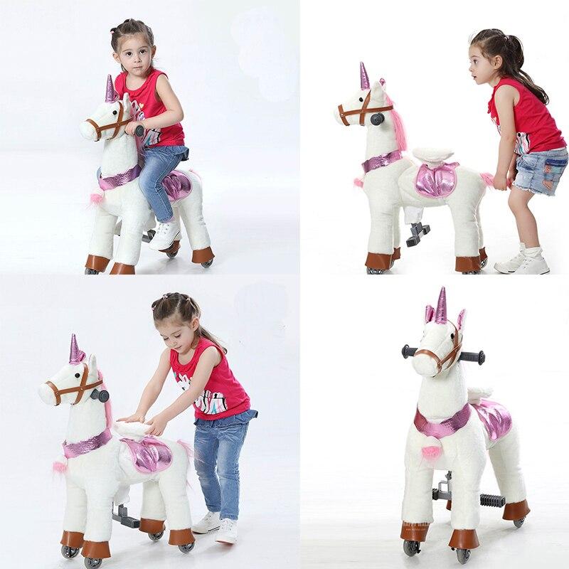 Action poney petite marche mécanique cheval jouet Ride sur rebond de haut en bas et cheval en mouvement pour les enfants 3-7 ans garçons filles