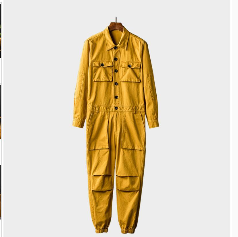 Hip Femmes Automne Multi Japonais Couple Pantalon Hommes Sangle army Harem hop vert Salopette kaki Et jaune Pied De Bib Faisceau Outillage Noir poches Blue WE2H9DI